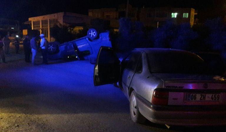 Mut'ta askeri araç kaza yaptı