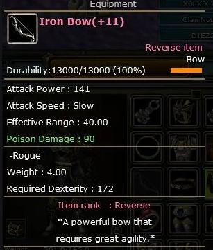 Rebirth +11 Iron Bow
