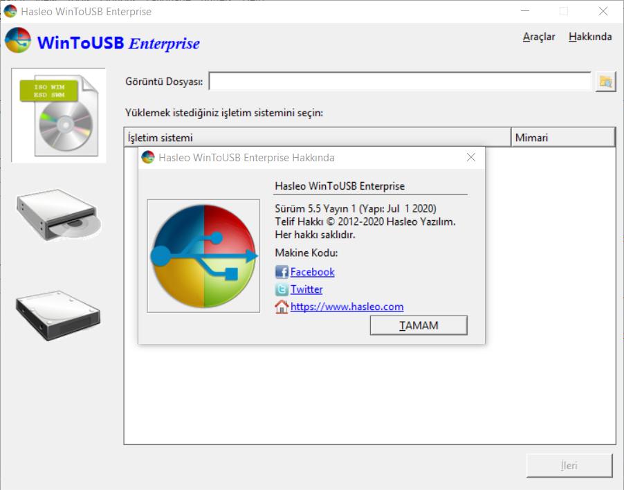 WinToUSB 5.5 Release 1 Enterprise | Katılımsız