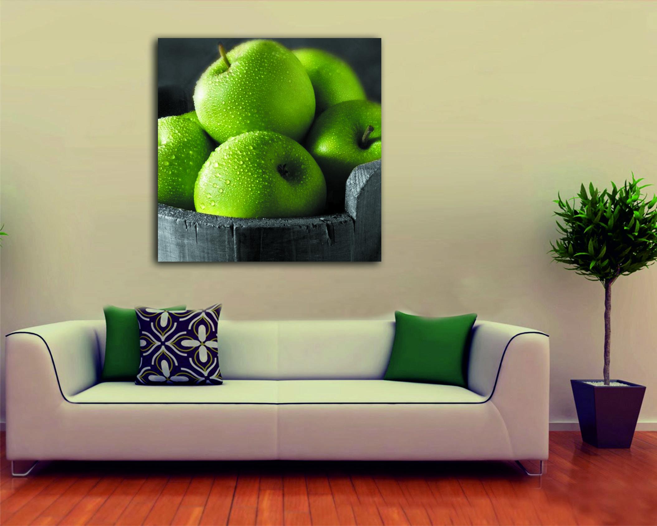 100 x 100 Yeşil Elmalar