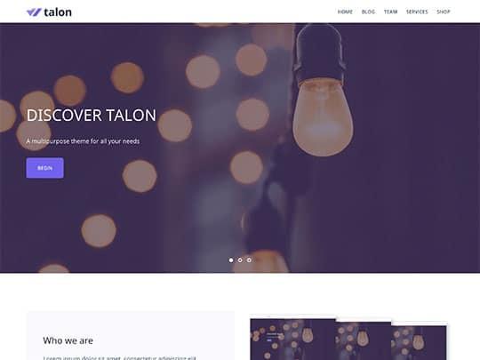 Talon Blog Teması