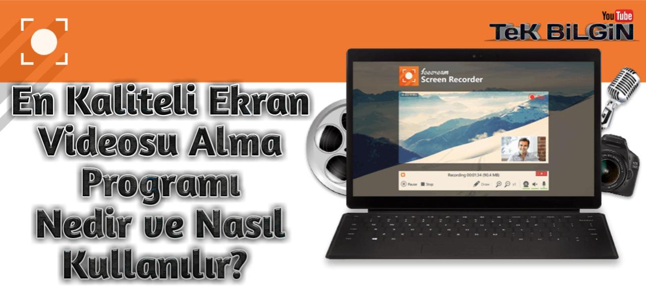 Icecream Screen Recorder - Ekran Görüntüsü Almanın En Kaliteli Yöntemi !
