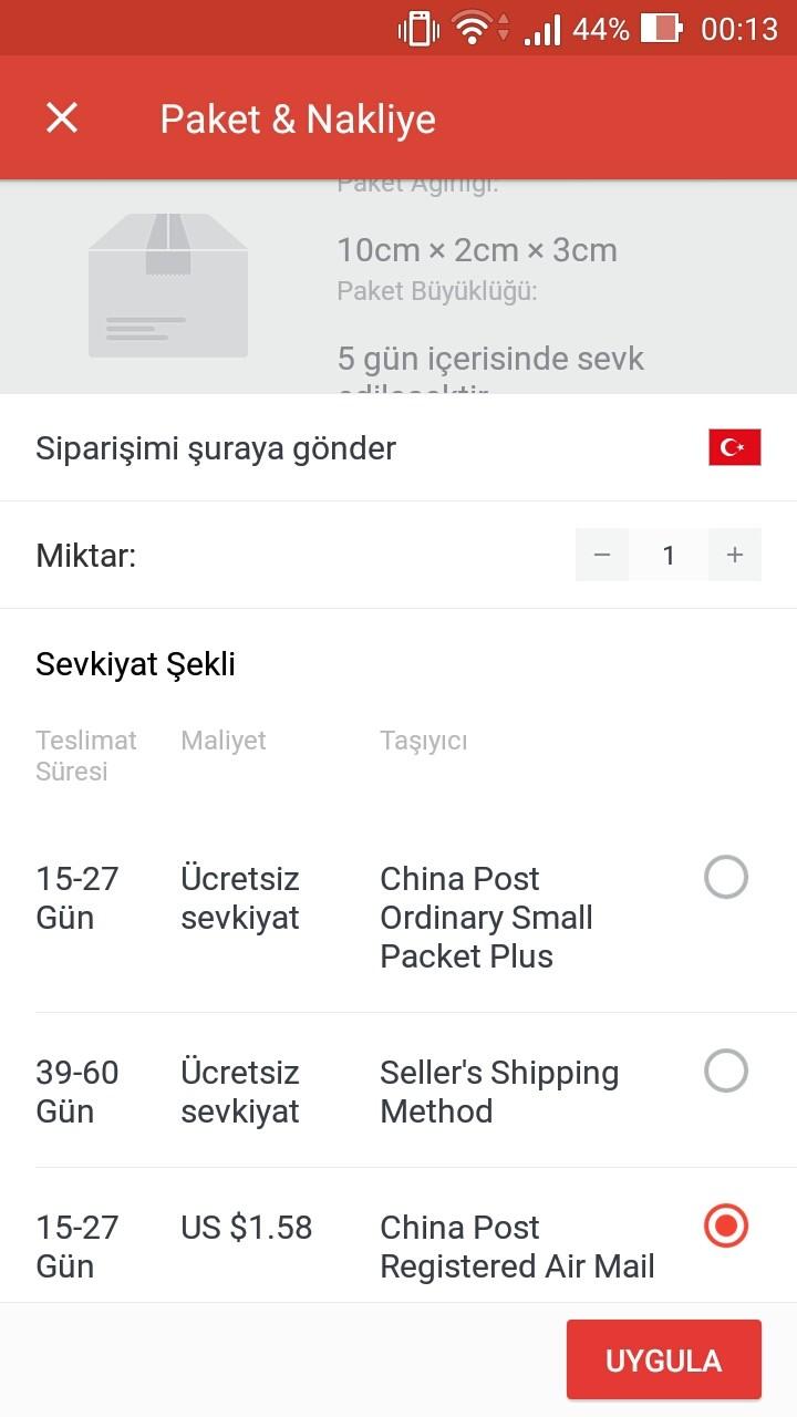 0nBO9B China Post Registered Air Mail kargo takip yapılabilir mi?