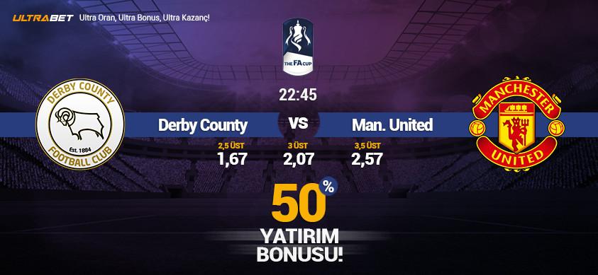 Derby County - Manchester United Canlı Maç İzle
