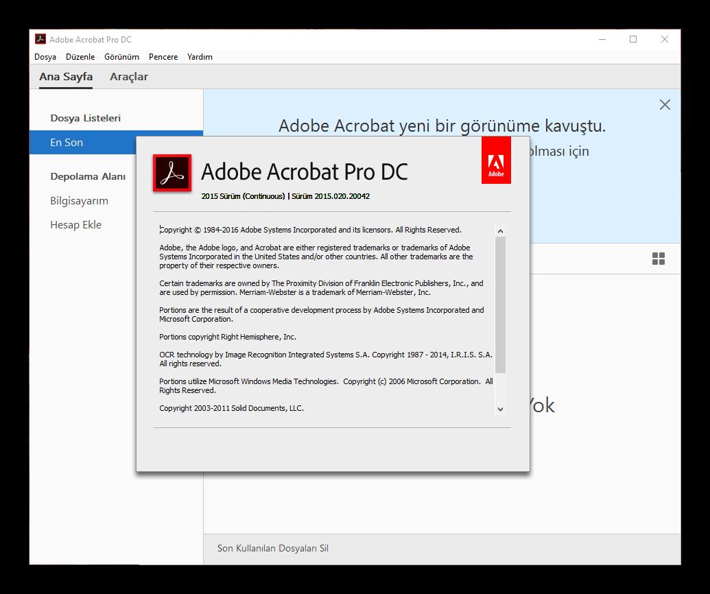 Adobe Acrobat Pro DC 2015.020.20042 Final | Katılımsız