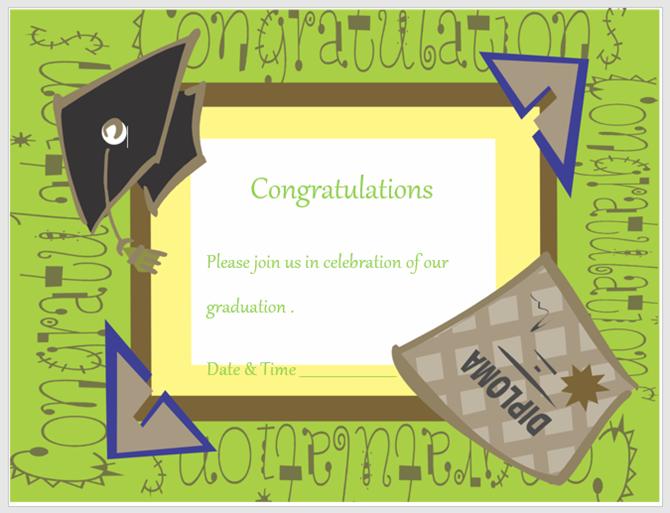 basit mezuniyet davetiyesi
