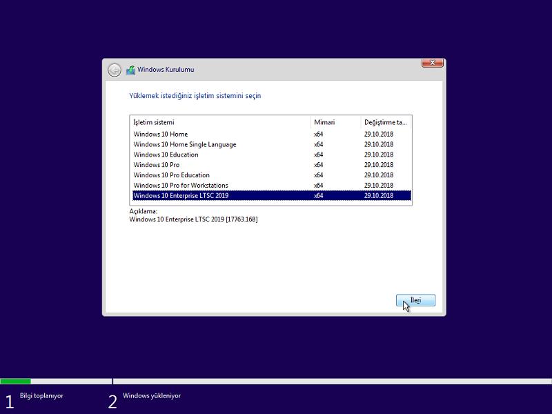 Windows 10 Aio X64 Version 1809 Build 17763 168 | Aralık 2018