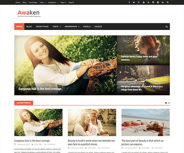 Ücretsiz Awaken Wordress Teması