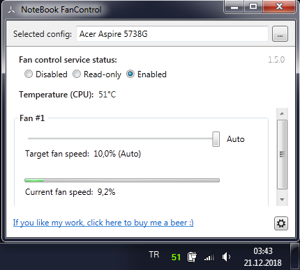 Notebook Fan Control Programı - Program-Appz - TNC-TR