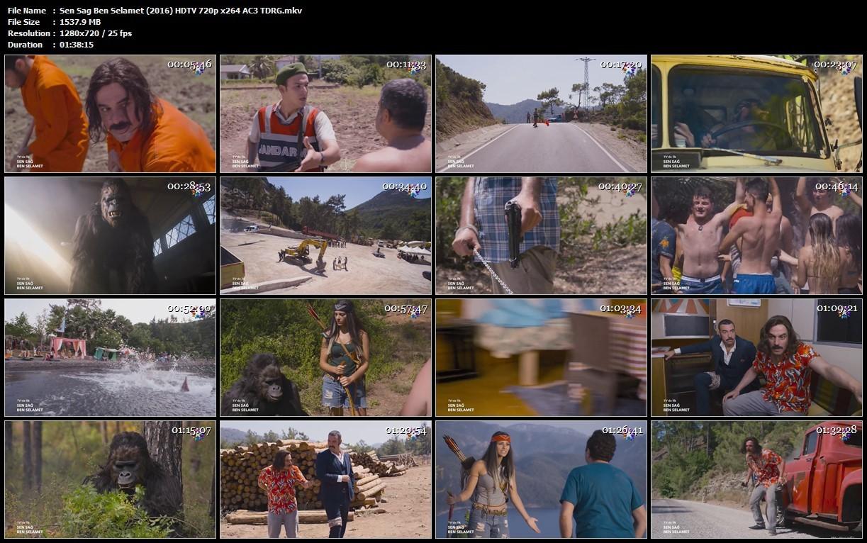 Sen Sağ Ben Selamet 2016 (Yerli Film) 720p HDTV