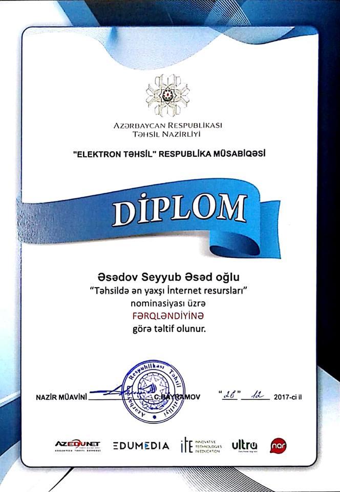 """Təhsil nazirliyi """"Elektron Təhsil"""" Respublika müsabiqəsinə yekun vurdu"""