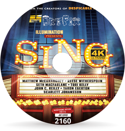 Şarkını Söyle - Sing 2016 2160p BluRay 4K UHD HEVC Türkçe Dublaj İndir