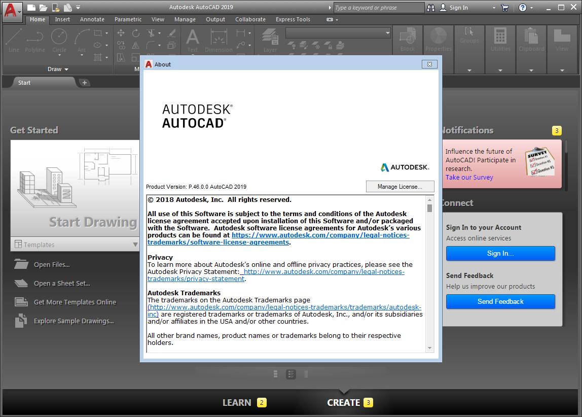 Autodesk AutoCAD 2019 (x64) | Katılımsız