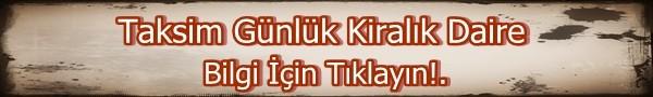 Taksim Günlük Kiralık Daire