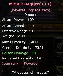 +9 Mirage dagger (+11reb)