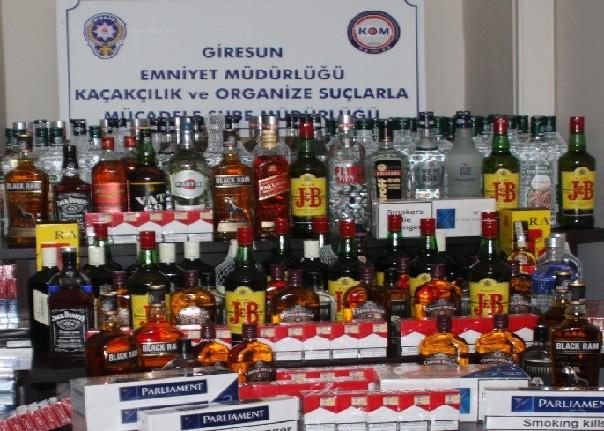 Giresun'da Kaçak İçki/Sigara Operasyonu