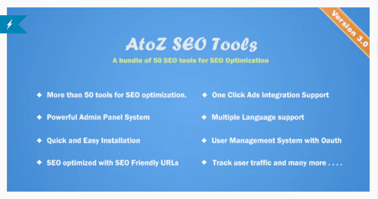 AtoZ SEO Tools 3.1 Nulled – Search Engine Optimization Tools PHP