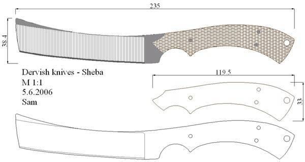 Как сделать нож кредитку чертеж