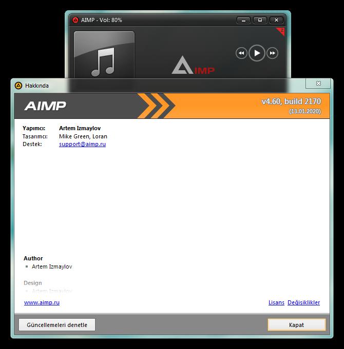 AIMP 4.60 Build 2170 Final | Katılımsız