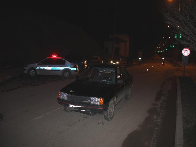 Tavukçuluk önünde Trafik kazası1 yaralı