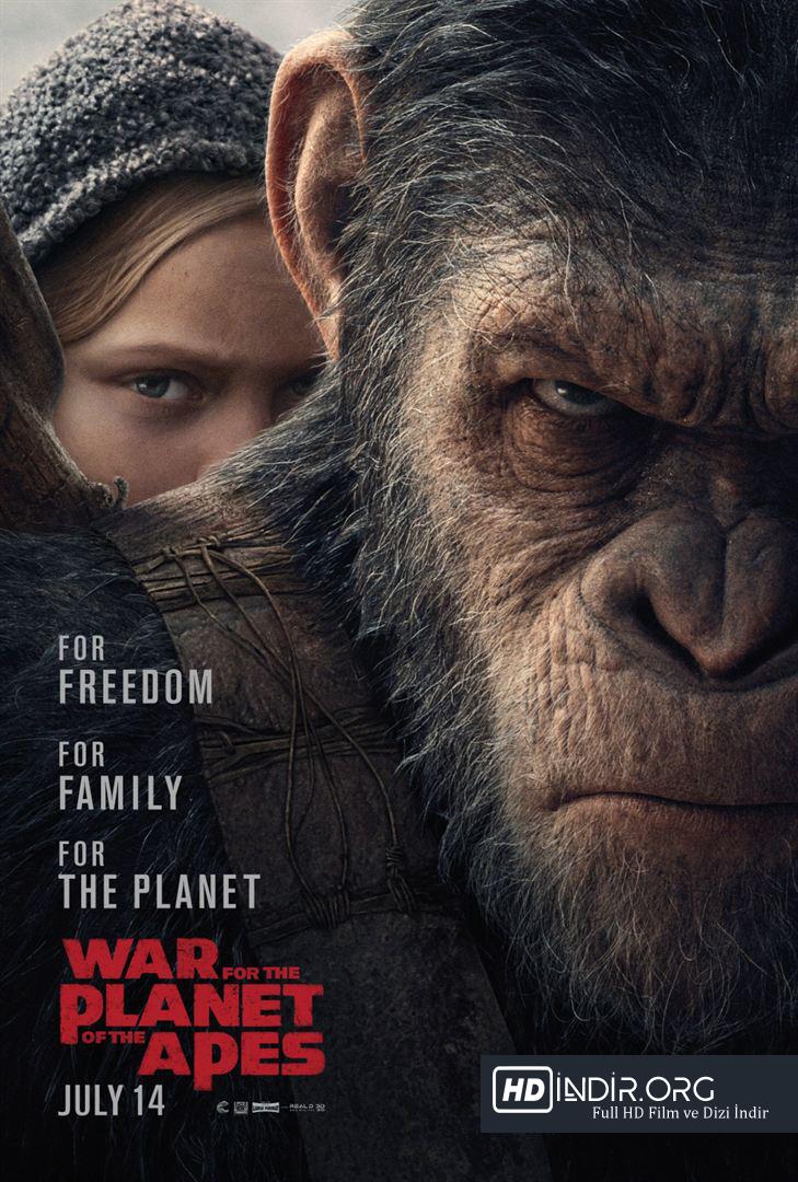 Maymunlar Cehennemi (2017) Türkçe Dublaj HD Film İndir