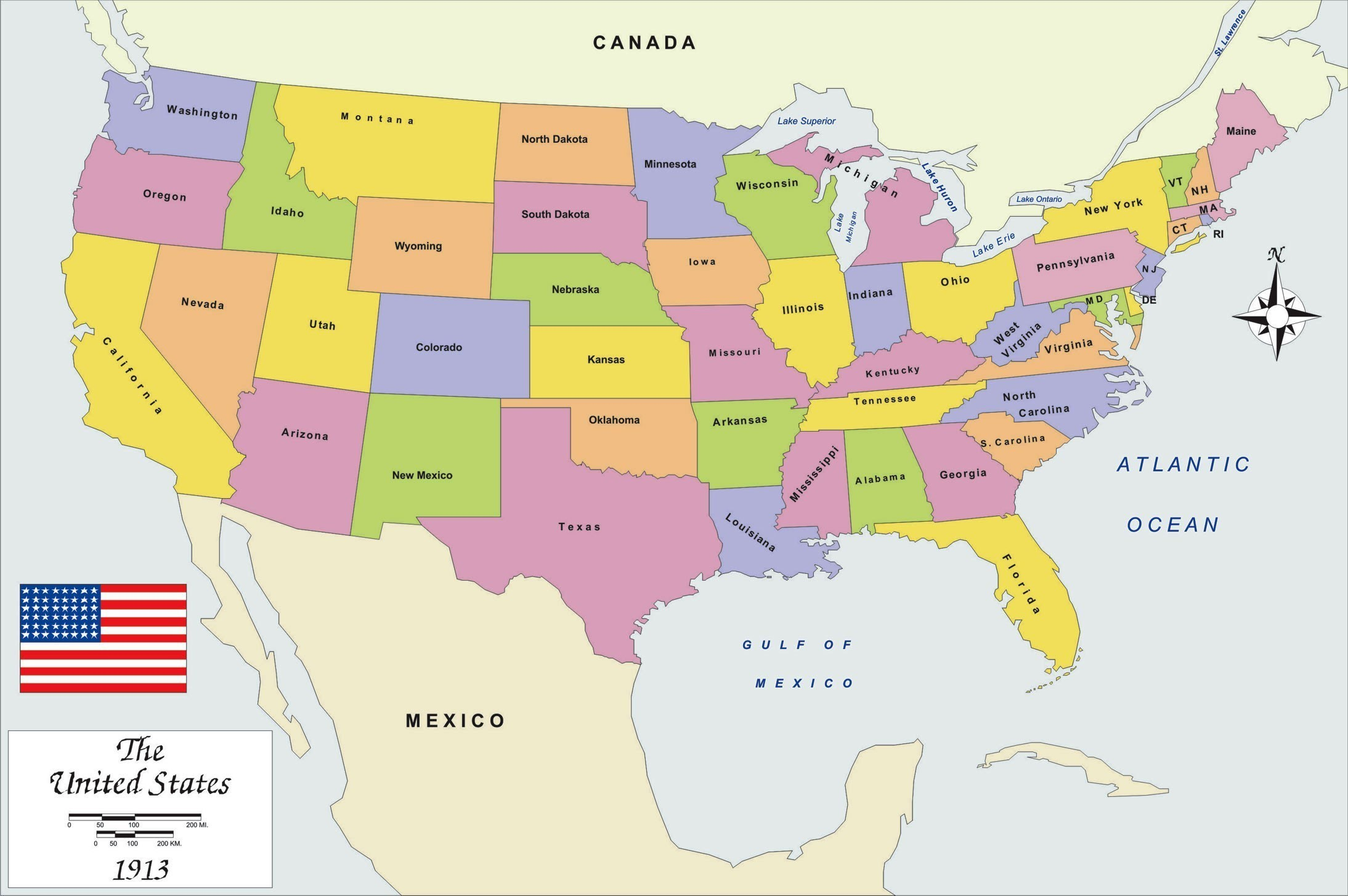 United States Map Names And Capitals Refrence Us Timezone Map With ...