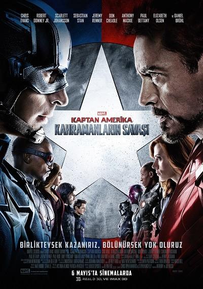 Kaptan Amerika: Kahramanların Savaşı - Captain America: Civil War 2016 afiş