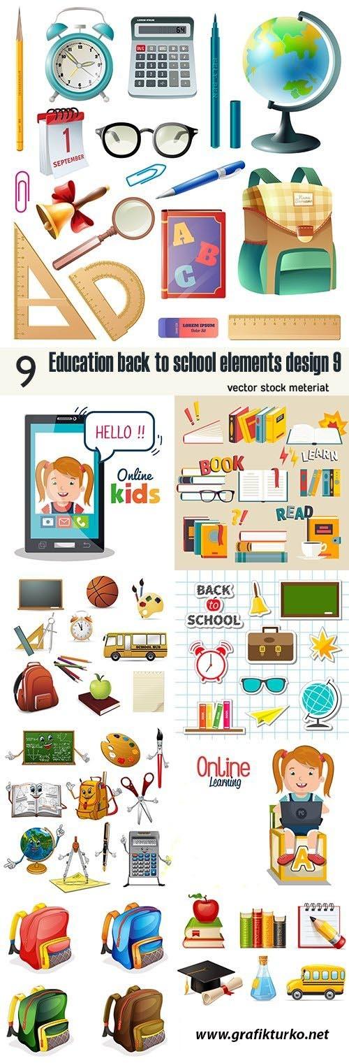 Education back to school vector design 9