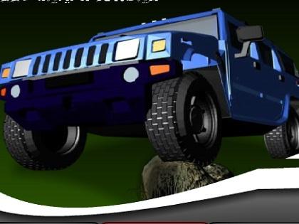 Hummer Jeep Yarışı Oyunu