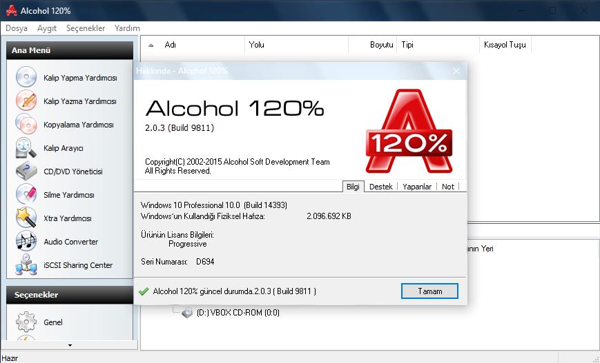 Alcohol 120% 2.0.3.10203 | Katılımsız