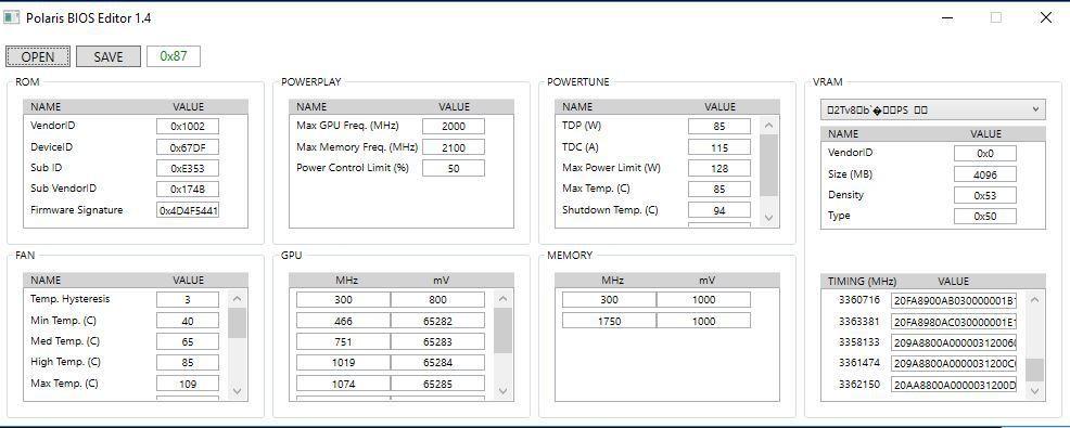 Sapphire Nitro Radeon Rx 470 4 GB OC (Hynix) Rom edit