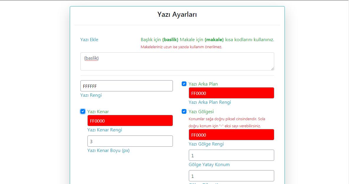 Wordpress Otomatik Görsel Düzenleyici