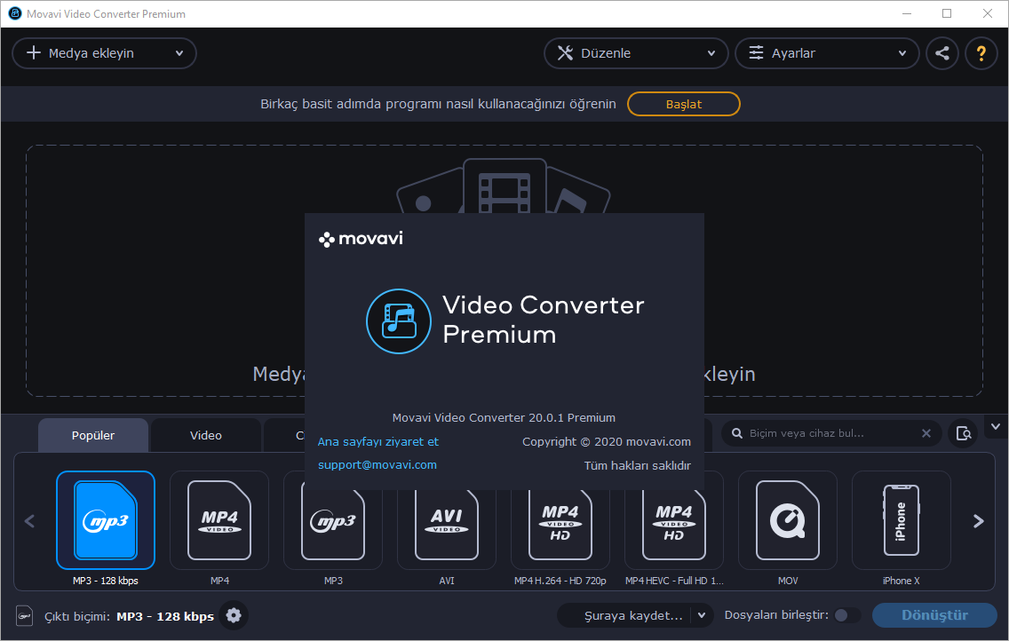 Movavi Video Converter Premium 20.2.1 | Katılımsız