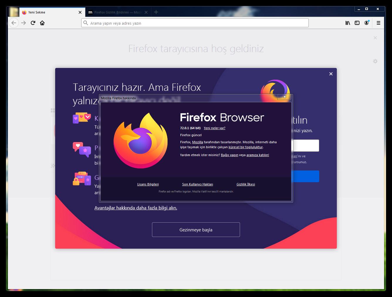 Mozilla Firefox 72.0.1 Final   EN-TR   Katılımsız