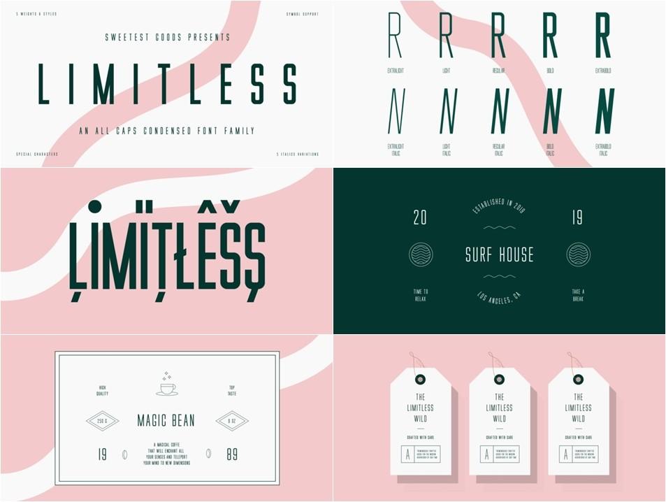 Limitless Font Türkçe 10 OTF (ÖZEL)