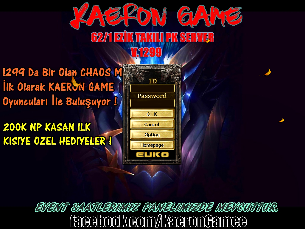 ★◄▓►62/1 PK SERVER◄▓►NP VER İTEM AL◄▓►RİNG KIRDIR NP KAZAN◄▓►CUMARTESİ 19:00 SERVER ONLİNE◄▓★v.1299