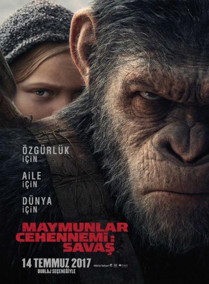 Maymunlar Cehennemi: Savaş – War for the Planet of the Apes 2017 (BRRip – m1080p) Türkçe Dublaj indir