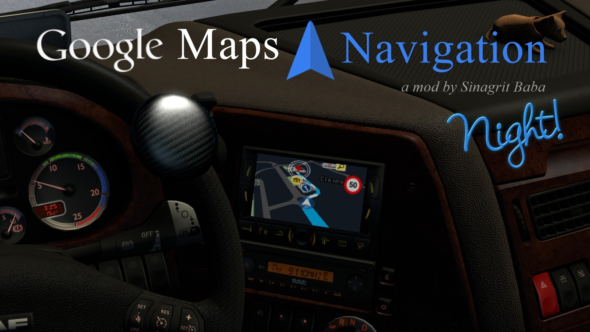 ETS 2 - Google Haritalar Navigasyon Night Version