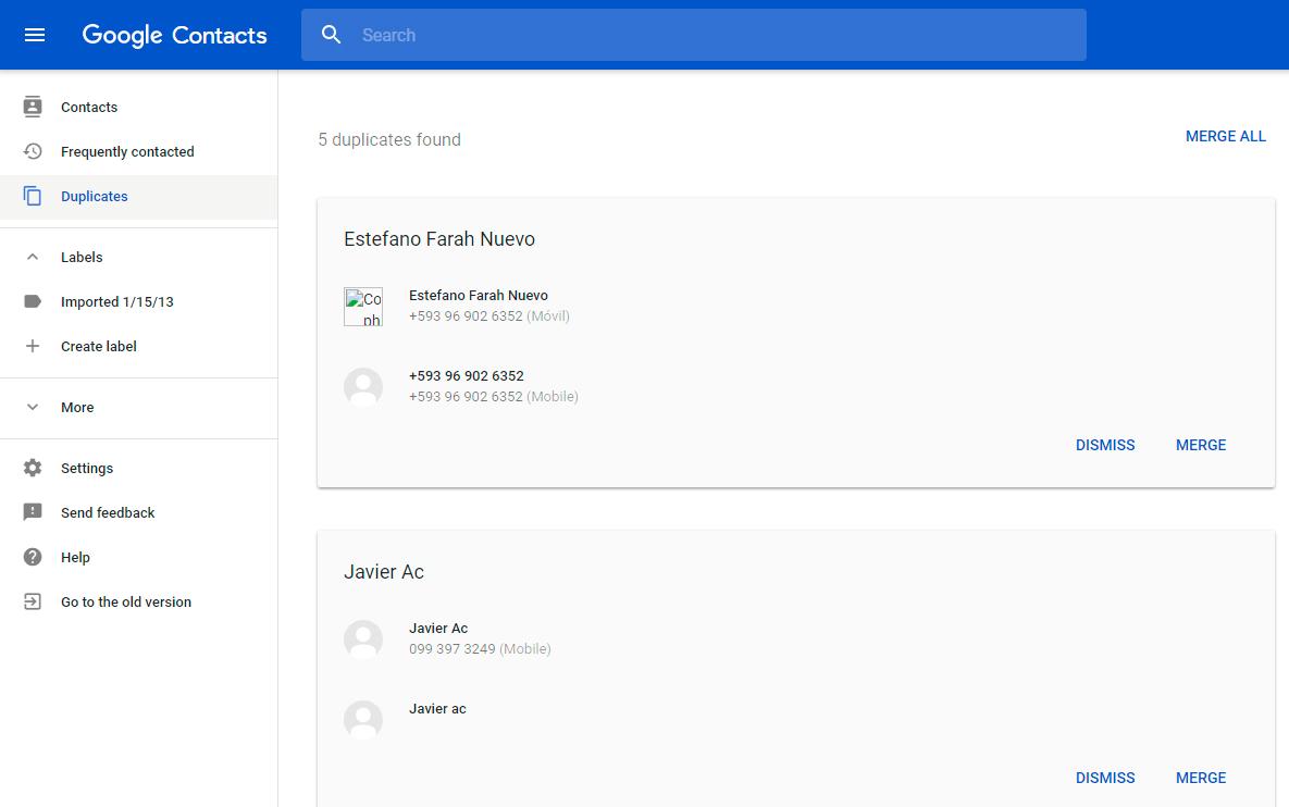google contacs