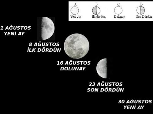 Ay Dünya'nın etrafında dönüşünü kaç günde tamamlar