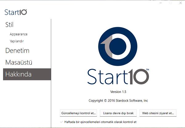 Stardock Start10 1.55  Multilingual | Full İndir