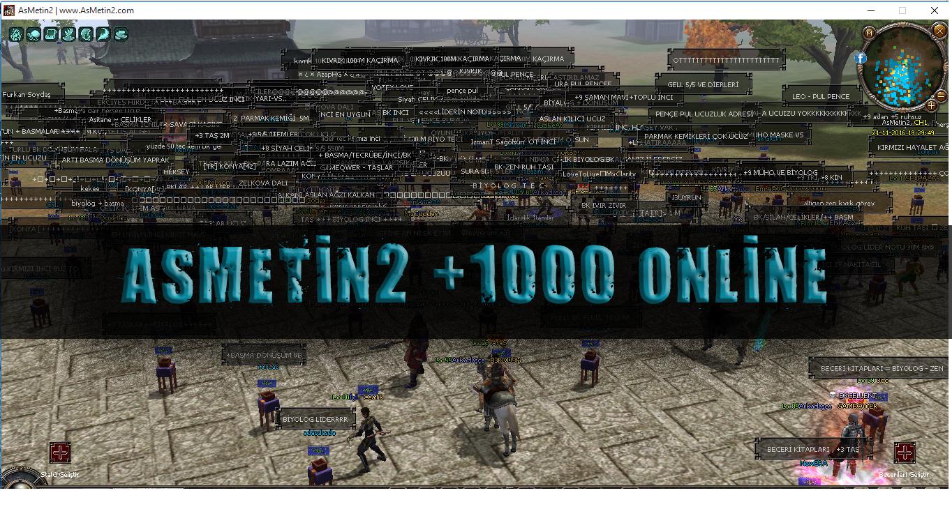 Asmetin2 TR Tadında Zor Emek Server +100 Online