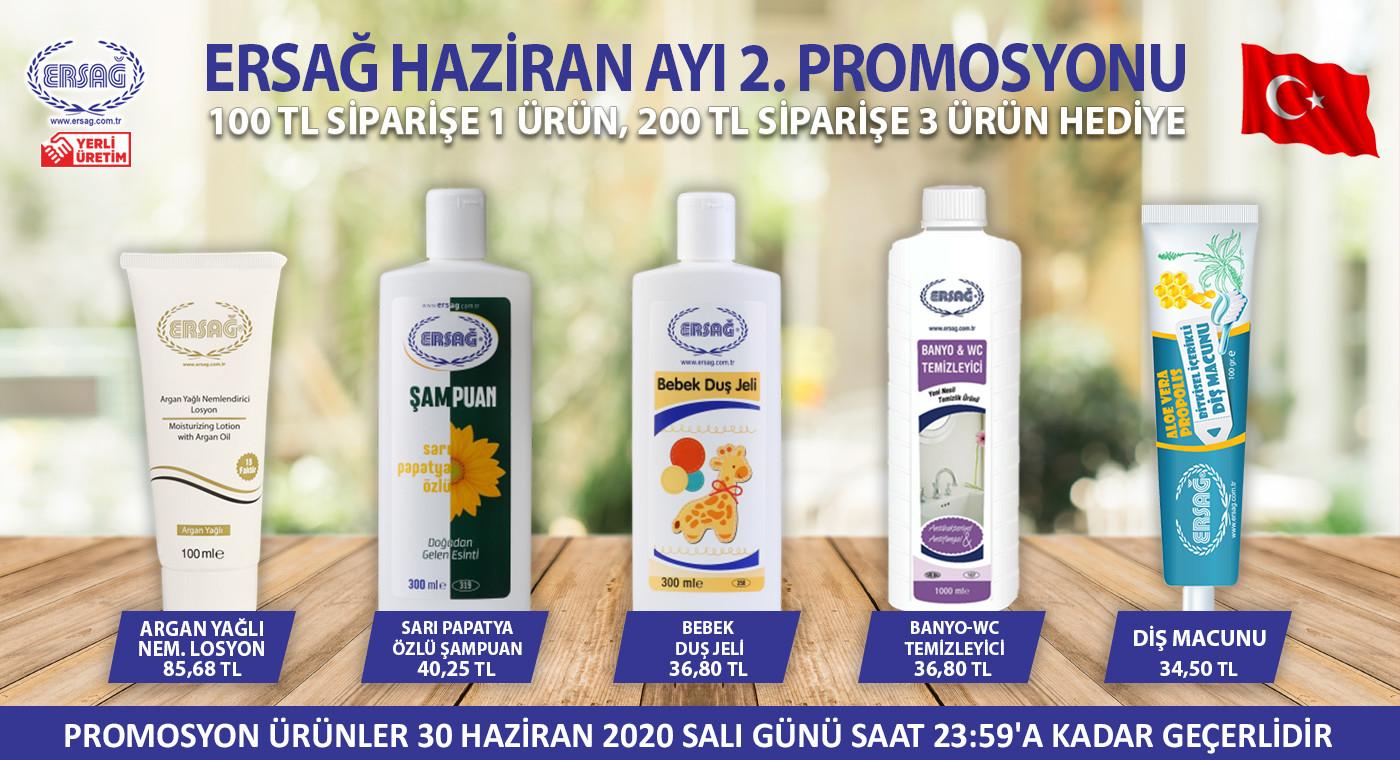 Ersağ Türkiye Haziran Ayı 2. Dönem Promosyonları 2020