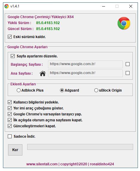 Google Chrome Çevrimiçi Yükleyici v1.4.1