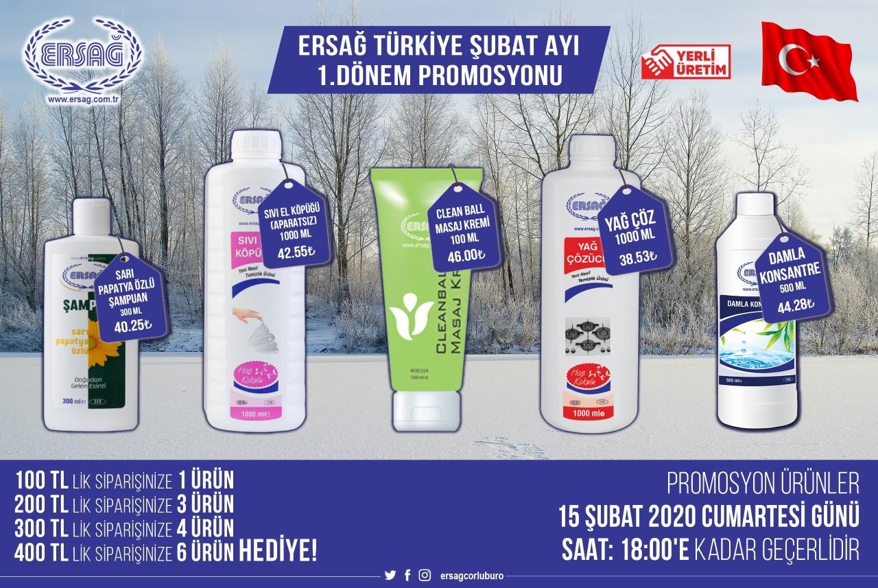 Ersağ Türkiye Şubat Ayı 1'ci Dönem Promosyonu 2020