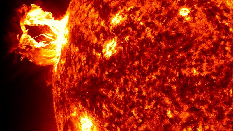 Güneş'te son 5 yılın en büyük patlamaları böyle görüntülendi