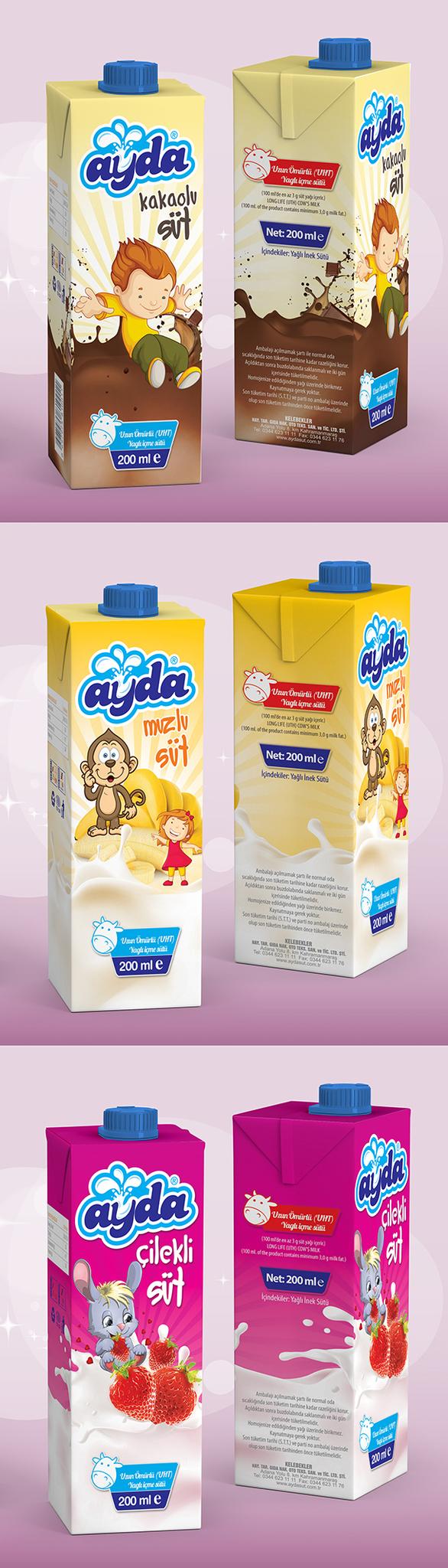 Yeni Süt Paketi Çalışmam