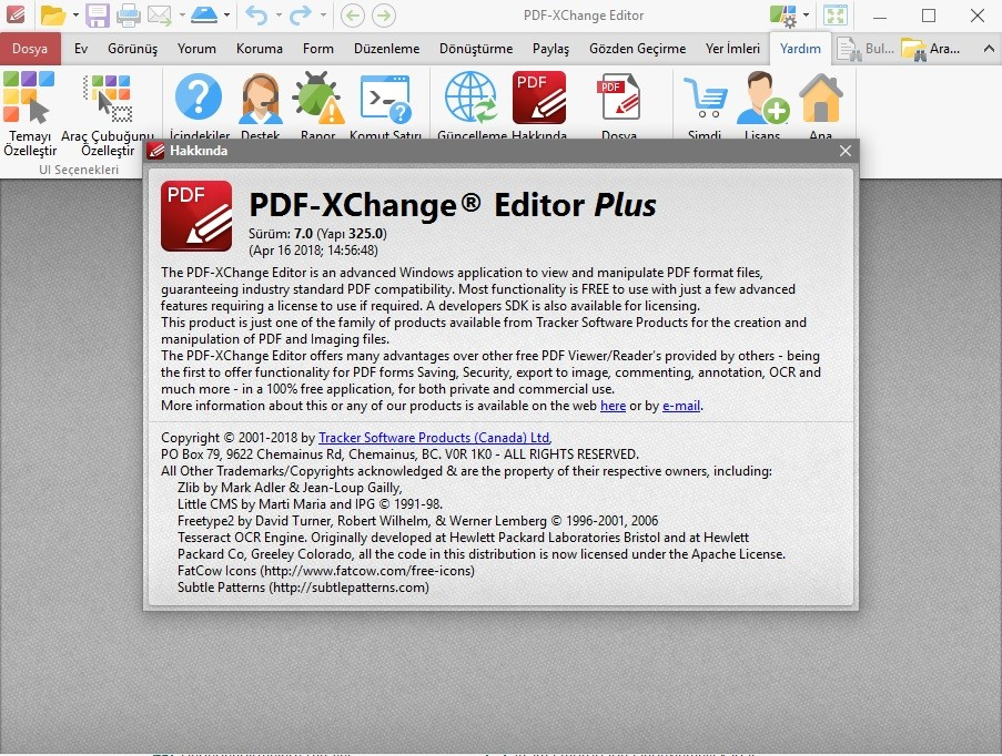 PDF-XChange Editor Plus 7.0.325.0 x86.x64 Türkçe | Katılımsız