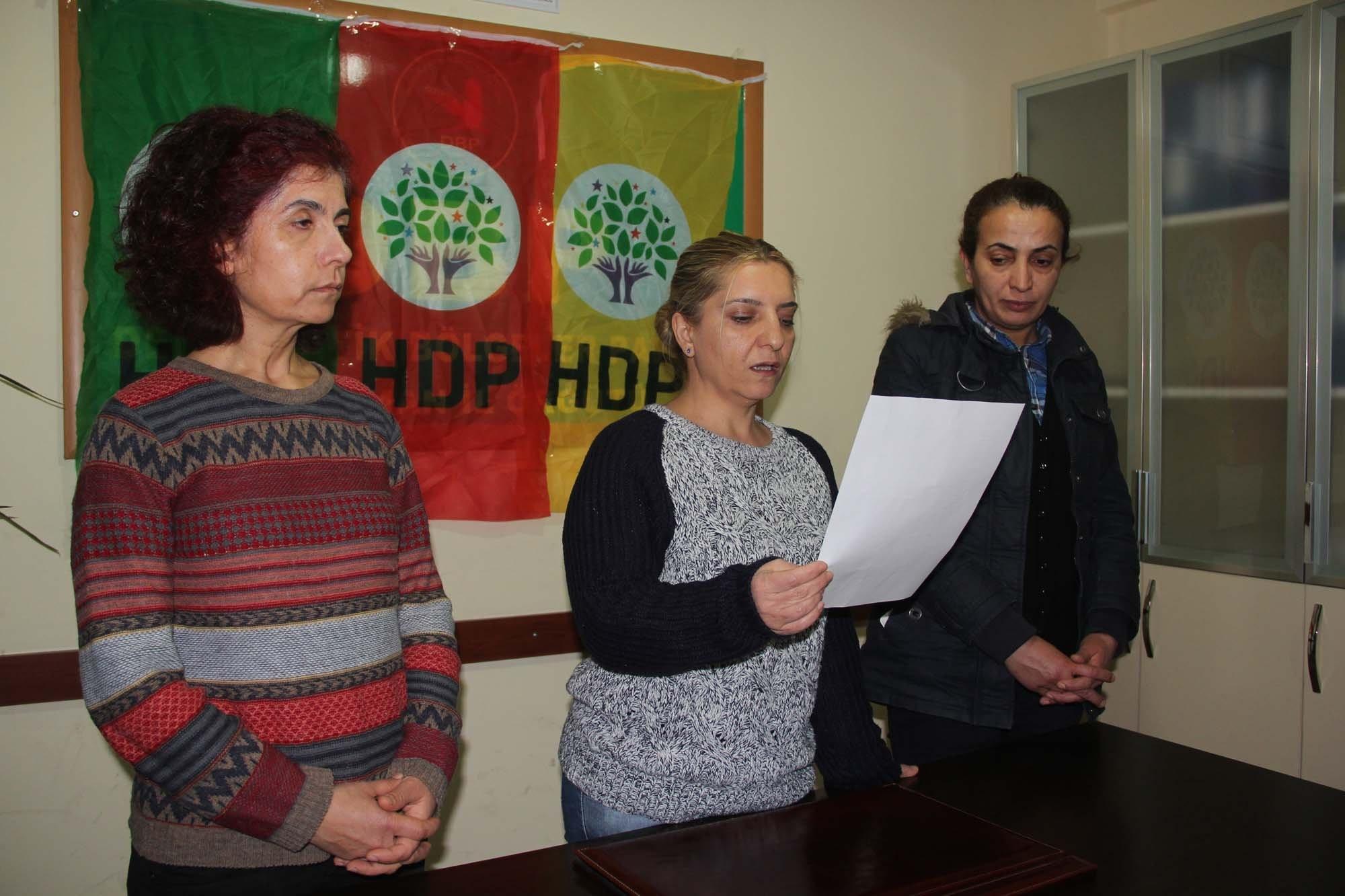 HDP ve DBP Üyeleri Sokağa Çıkma Yasaklarını Eleştirdiler