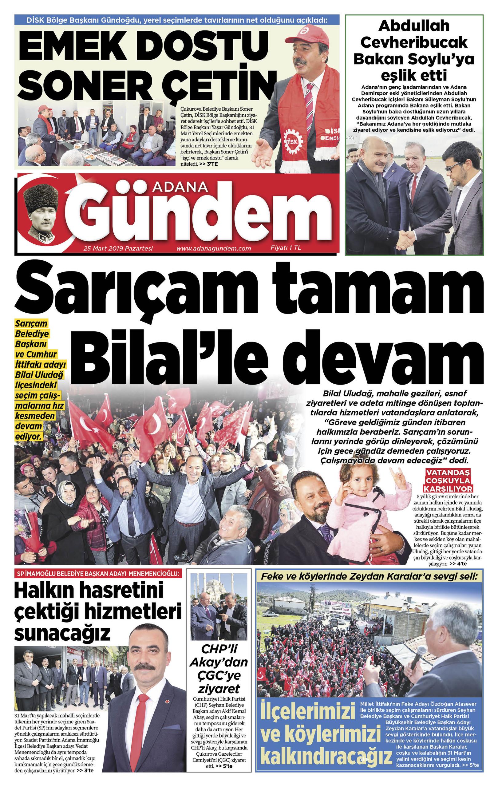Adana Gündem Gazetesi e-gazete